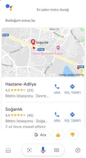 Google Asistan Konum
