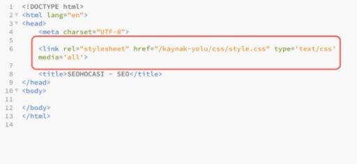 html external css kullanimi