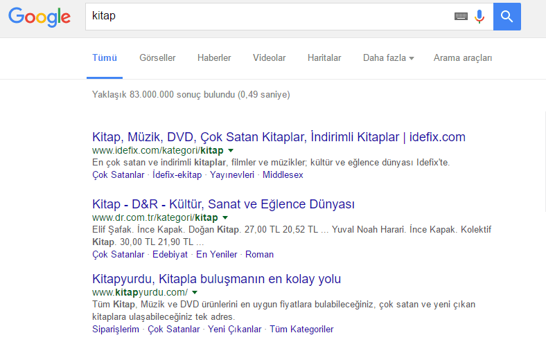 Google'da kitap siteleri